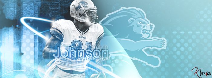 Calvin Johnson Banner by KevinsGraphics