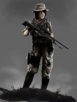 Female Soldier by Dinoforce