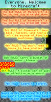 The Rules of Minecraft by Drayle88
