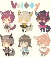 Auction : Voltty Species Set 2 [CLOSED] by HyRei
