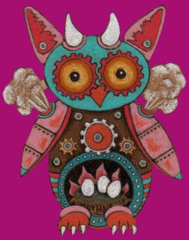 Mechanical Steampower Owl by amyweber