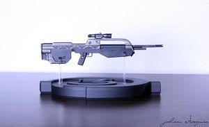 Halo Weapon Battle Rifle by Johawna