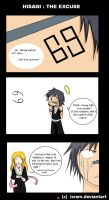 Hisagi : the excuse by Isram