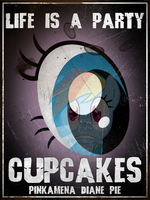 Cupcakes old Poster Art Pinkie Pie by Grumbeerkopp