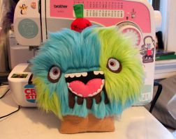 Custom Monster Cupcake by loveandasandwich