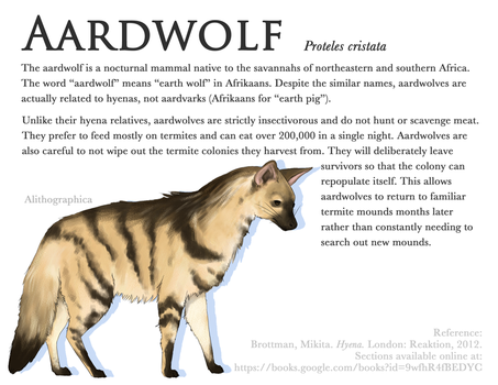 Science Fact Friday: Aardwolf by Alithographica