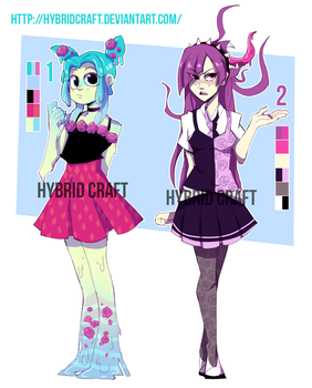 Adoptable Auction Monsters Girls 2 by Taikoubou-Metal