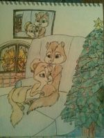 AlvinXBrittany Christmas time by jcis4me