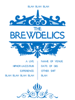 BREWDELICS gig poster WIP - NAVAL by JoeyProlapse