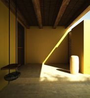 Yellow Entrance by 3D-Brainx