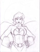 Power_Girl_snicker by JayAPayne