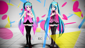 Electric Love#2 - LAT Electric Love Miku Wallpaper by MMDAnimatio357