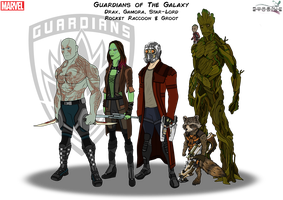 Guardians of The Galaxy by PhoenixStudios91