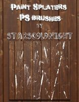 Paint Splater Brushes By Starscoldnight by StarsColdNight