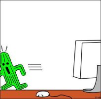Cactuar goes to DeviantART by TheMasterPlan09