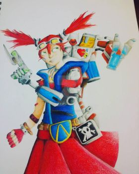 Gaige and D4TH TP from Borderlands 2 by okamiofwar710