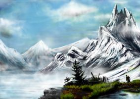 Uncharted 2 Ice Cave Vista by Andreagoh