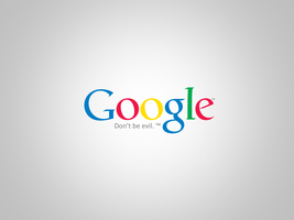 Google - Don't be evil. Wallpaper by dAKirby309