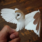 Paper and wood mini barn owl is coming together... by ZackMclaughlin