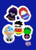 Kokeshi Postcards teentitan by smallrinilady