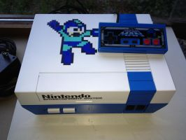 Mega Man themed NES. by Hananas-nl