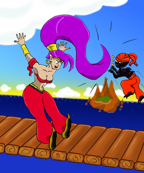Shantae's Hair Whip by SpoonyBardOL