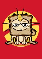 Meowth Breading T-shirt Design by alsnow