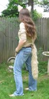 Tan Faux Fur Fox/Coyote Tail - FOR SALE! by ThingsFromMyCloset