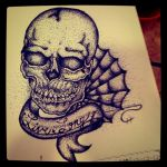 Pointillism Skull by MonteyRoo