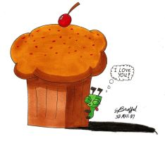 Gir and His Cupcake by Cartoon-Eric