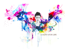 colorful life ft kyungsoo by vanillaisyummy