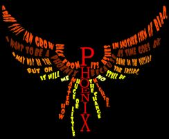typography phoenix colored by denpoy25