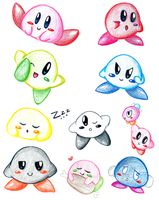 Kirby Collage pt. 1 by Ameyh