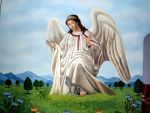 Angel Painted On The Wall of the Church by christiano2211