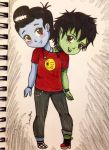 Chibi Frank and Len by DonutSeed