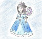 Gift: The Crystal Princess and the fairy by HomuPeachy