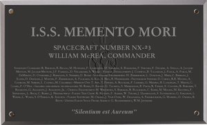 ISS Memento Mori Plaque by kahn-iceay