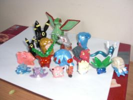 Pokemon Sculptures by Xgirl1251