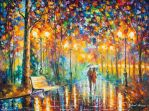 Rain's Rustle 3 by Leonid Afremov by Leonidafremov