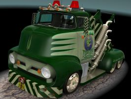 1956 Ford F500 Tow Truck 2 by CWRudy