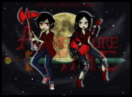 Marshall x Marceline by RedStar-Sama