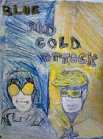 Blue and gold attack by brittlblackrose
