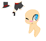 Chibi Base (tux and tie with top hat) by ChocoPapaya