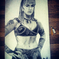 Lifesize Gabrielle Drawing by XenaGriffin