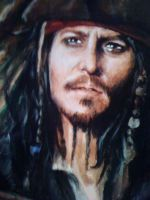 Jack Sparrow close up by EshiraArt