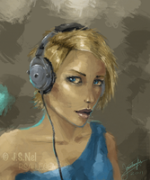 Blonde Girl - Speedpaint by JoshuaNel