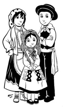 Kids in Traditional Dress by dsouzamitchelle