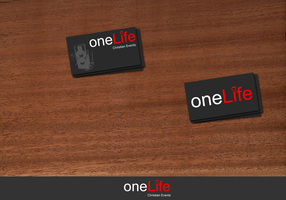 One Life Business Cards by the-stand