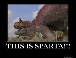 Dinosaur This Is Sparta by Meowmeowmeow21