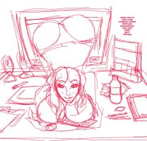 Staceytron entry sketch by CyberMisadventures